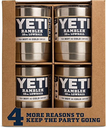 YETI Rambler 10 oz Stainless Steel Vacuum Insulated Lowball, White