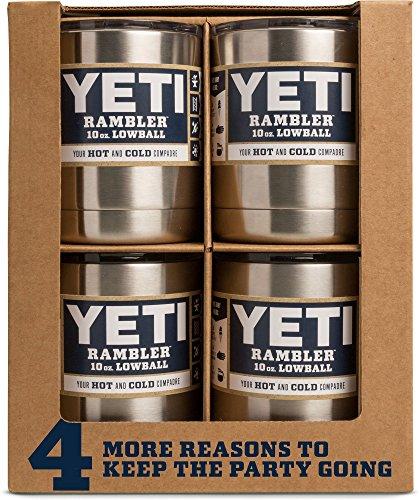 YETI Rambler 10 oz Stainless Steel Vacuum Insulated Lowball, White