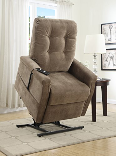 Pulaski Montreal Coffee Fabric Lift Chair, Brown