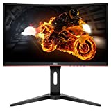 AOC C27G1 27' Curved Frameless Gaming Monitor FHD 1920x1080, 1800R, VA 1ms MPRT, 144Hz, FreeSync, DisplayPort/HDMI/VGA, Height Adjustable, VESA