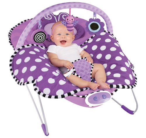 Sassy Cuddle Bug Bouncer, Violet Butterfly