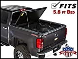 Gator Evo Hard Bi-Fold (fits) 2007-2013 Chevy Silverado GMC Sierra 5.8 FT Bed w/Bed Caps ONLY Bi Folding Tonneau Truck Bed Cover (GC15006) Made in The USA