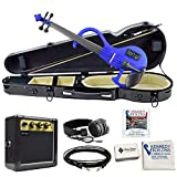 Bunnel EDGE Electric Violin in Hard Shell Case (Bombshell Blue)
