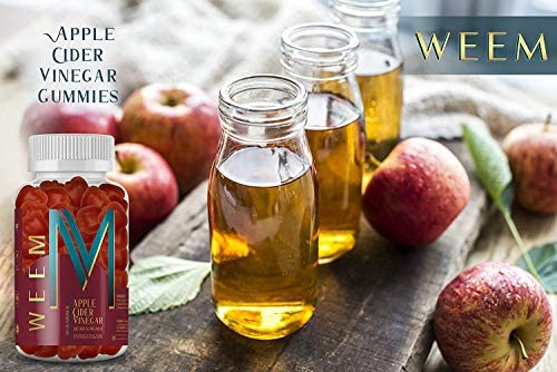 WEEM Apple Cider Vinegar Gummies - Natural, Vegan ACV with Folic Acid- Gluten Free - Vitamin B6 & B12 - Premium Detox & Weight Supplement- Helps Digestion for Women and Men 7