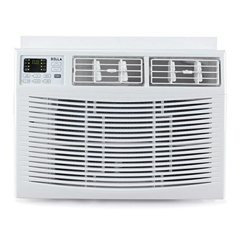 DELLA Window Mounted 8,000 BTU Mini Air Conditioner 115V AC Remote Control (Up to 350 SQ FT) Energy Star, White