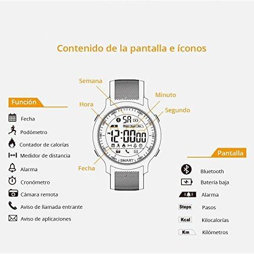 51v4Wi55cyL. AC  - Redlemon Smartwatch Reloj Inteligente Sport con Pantalla Digital, Resistente al Agua, Notificaciones de Llamadas, Redes Sociales y Mensajería, Funciones Deportivas, Podómetro, Hasta 6 Meses de Batería #Amazon