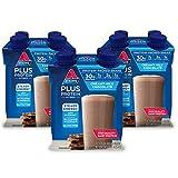 Atkins PLUS Protein & Fiber Shake, Chocolate, Keto Friendly, 11 oz., 4 Count (Pack of 3)