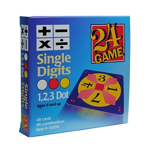 24 Game: 48 Card Deck, Single Digit cards Math Game