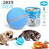 LAVIZO 【2019 Upgrade】 Newest Cats and Dogs Toys Wicked Balls, Smart Interactive USB Rechargeable Electric Ball Toys, Washable Silicone Dog Ball Automatic Rotating Rolling Ball Toys