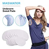 Underarm Sweat Pads - MASWATER Armpit Underarm Shields Fight Hyperhidrosis for Men and Women[ 50 Pack /25 Pairs ] Disposable Dress Guards/Shields, Sweat Free Armpit Protection/White