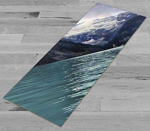 Pimp My Yoga Mat - Lake Louise Beauty - Original Artwork 72x24 in Yoga Mat / Pilates Mat, 1/8 in Thick