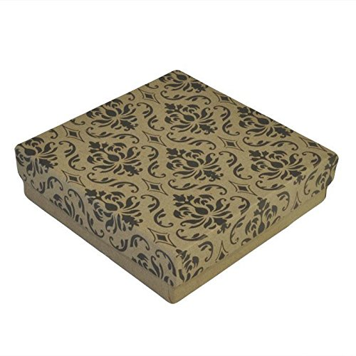 Gems on Display Damask Cotton Filled Jewelry Packaging Boxes #33~100 Per Pack