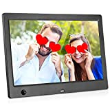 MRQ 10.1 Inch Digital Photo Frame, 1024x600 IPS Picture Video(1080P) Frame with Auto-Rotate, Motion Sensor, E-Book, Calendar, Alarm, Supports Multiple File Formats and External USB and SD Card-Black