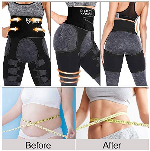 ROSRAN Waist Trainer for Women, Waste Trainers for Women, Hip Enhancer Invisible Lift Butt Lifter Shaper Waist Trainer Thigh Trimmers for Women 4