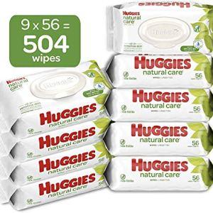 Huggies Natural Care Sensitive Baby Wipes, Unscented, 9 Flip-Top Packs (504 Wipes Total) 51vENLR6AML