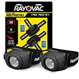 Rayovac 2-Pack Virtually Indestructible LED Headlamp Flashlight, Use For Camping Accessories, Hurricane Supplies, Survival Kit, 300 Lumens, Batteries Included