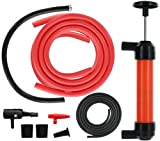 Wekster Multi-Purpose Siphon Transfer Pump Kit, with Dipstick Tube | Fluid Fuel Extractor Suction Tool for Oil, Gasoline, Water, Liquids & Air