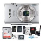 Canon PowerShot ELPH 180 20 MP Digital Camera (Silver) w/ 32GB Accessory Bundle