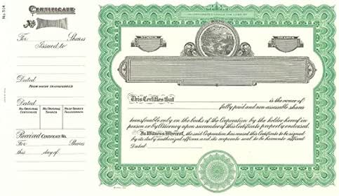 Amazon.com : Goes 514 Stock Certificate Form - Pack of 25 ...