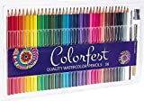 Watercolor Pencils Set with Sharpener and Brush for Kids Adults and Professionals - Adult Coloring Kit with 36 Soft Core Artist Grade Watercolor Pencils including Bonus Pencil Extender by Colorfest