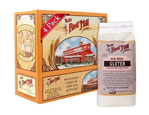 Bob's Red Mill Vital Wheat Gluten Flour, 22 Ounce (Pack of 4)