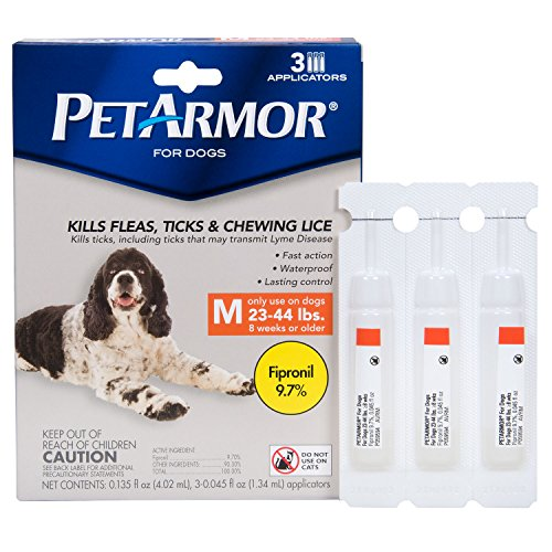 PetArmor Flea & Tick Treatment for Dogs, 23-44 lbs, 3 ct