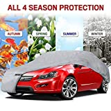 Motor Trend 4-Layer 4-Season (Waterproof Outdoor UV Protection for Heavy Duty Use Full Cover for Cars up to 210')