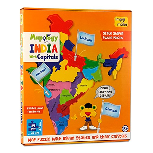 Imagimake Mapology India With State Capitals - Educational Toy And Learning Aid Puzzle-Jigsaw Puzzle 2
