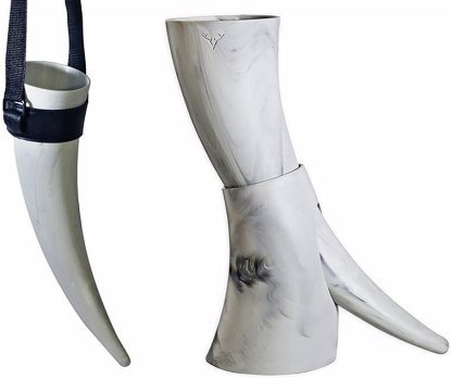 Viking Drinking Horn with stand - Medieval Inspired BPA Free Drinking Horn