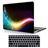 Maychen Laptop 2018 Sleeve for MacBook Air 13 2018 inch case Plastic Hard Shell Cover A1932 with Keyboard Cover, Music