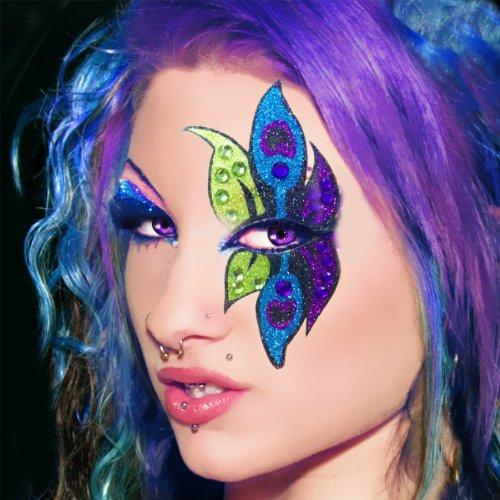Xotic Eyes Peacock Glitter Professional Eye Make up Costume Accessory