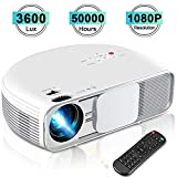 iBosi Cheng Video Projector 1080P Full HD Home Theater Projector LCD Portable Projector with 3600 Lux, 208' Large Screen, Support with HDMI USB VGA Ports for TV Box Laptop Smartphones