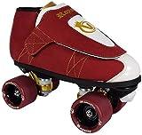 VNLA Royalty Kids/Adult Jam Skates | Quad Roller Skates from Vanilla - Mens/Ladies Womens Indoor Speed Skate Rollerskates for Men Women Boys and Girls (Red, White, and Gold - Mens 8 / Womens 9)