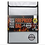 Fireproof Document Bags (2000℉), Protect Important Documents, Fireproof Bags (Extra Strength), Waterproof and Fireproof Document Bag, Fire Safe Bags, Keep your Documents Safe from Fire and Water