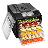 MAGIC MILL Professional Food Dehydrator, 9 Drying Racks Multi-Tier Food Preserver, Digital Control BUNDLE BONUS 2 Fruit Leather Trays, 1 Jerky Hanging Rack 1 Fine Mesh Sheets,