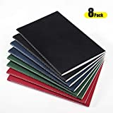 Travel Notebook Journal, AHGXG A5 Notebooks-Pack of 8-Travel Journal Set with Lined Paper, Collged Ruled for Bullet Journaling&Travelers, 210mm x 140mm, 30 Sheets/60 Pages Per Pad