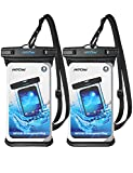 Mpow Waterproof Case, Waterproof Cellphone Dry Bag Full Transparency IPX8 Universal Phone Pouch Compatible for iPhone Xs Max/XS/XR/X/8, Galaxy S10/S10 Plus/S10e/S9, Note 9, Google up to 6.5' 2-Pack