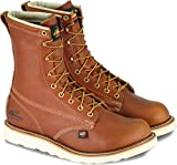 Thorogood 804-4364 Men's American Heritage 8' Round Toe, MAXWear Wedge Safety Toe Boot, Tobacco Oil-Tanned - 10.5 3E US