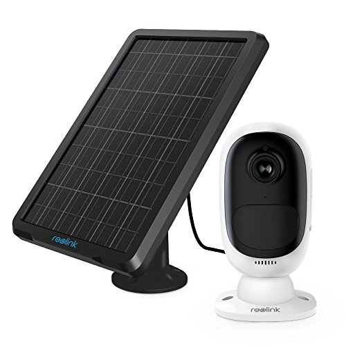 Reolink Argus 2+Solar Panel | Wireless Rechargeable Battery-Powered Security Camera for Outdoor Home Surveillance, 1080p HD 2-Way Audio Starlight Night Vision with PIR Motion Sensor SD Card Slot