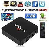 ZAMPEQ MXQ Pro 4K Android TV Box 1GB RAM/8GB ROM 64 Bit Quad Core Wi-Fi UHD Smart TV Box - Black