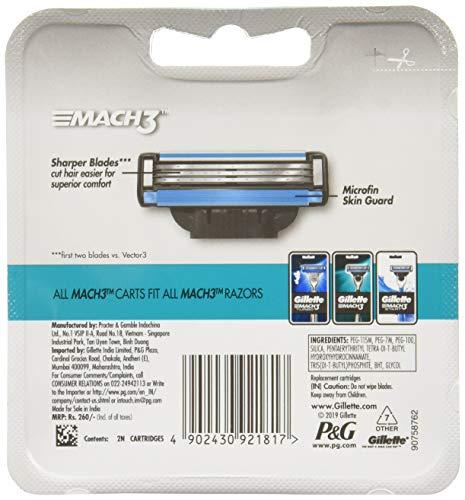 Gillette Mach 3 Manual Shaving Razor Blades - 2s Pack (Cartridge) 10