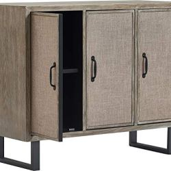 Click Décor Cottage Storage Cabinet, Gray
