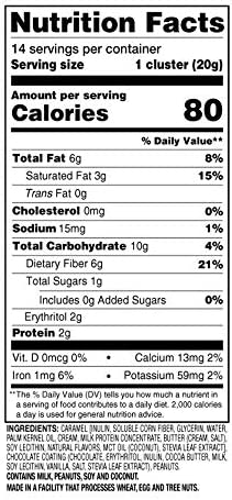 SlimFast Keto Fat Bomb Snacks - Chocolate Caramel Nut Clusters - 14 Count Box - Pack of 4 - Pantry Friendly 7