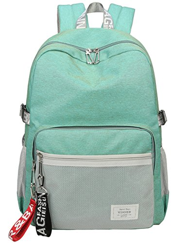 Classic Backpack Haversack Travel School Bag Student Simple Daypack Bookbag by Mygreen(Light Green)