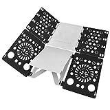 BoxLegend V2-Plus Shirt Folding Board t Shirts Clothes Folder Durable Plastic Laundry folders Folding Boards flipfold (Black&White)