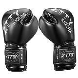 ZTTY Boxing Gloves for Training Muay Thai Punching Bag Sparring Kickboxing Fighting Gloves for Men & Women
