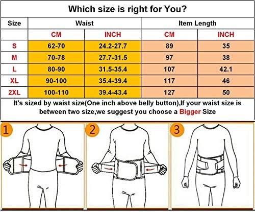QEESMEI Waist Trainer Belt for Women & Man - Waist Cincher Trimmer Weight Loss Ab Belt - Slimming Body Shaper Belt(Hotpink,Large) 2