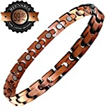 Reevaria Copper Bracelet for Arthritis - Guaranteed 99.9% Pure Copper Magnetic Bracelet for Women with 21 Powerful Magnets for Effective & Natural Relief of Joint Pain, RSI, Carpal Tunnel