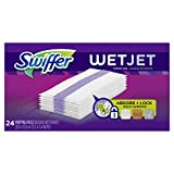 Swiffer Wetjet Hardwood Mop Pad Refills for Floor Mopping and Cleaning, All Purpose Multi Surface Floor Cleaning Product, 24 Count