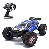 Remote Control Car RC Car, KELIWOW 1/12 Scale 18.64 MPH Waterproof 4WD 2.4GHz Off-Road All Terrain Truck with Independent Suspension (Blue) ¡